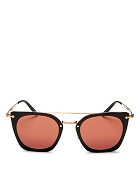 Oliver Peoples - Women's Dacette Brow Bar Mirrored Square Sunglasses, 50mm
