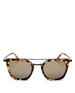 Oliver Peoples Women's Dacette Brow Bar Mirrored Square Sunglasses, 50mm