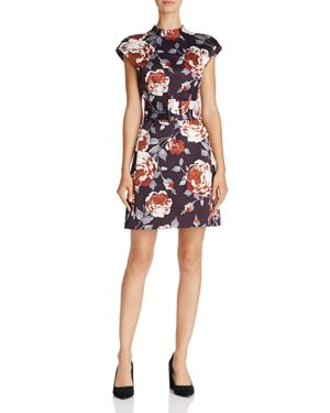 Theory Victoria Mod Floral Print Dress