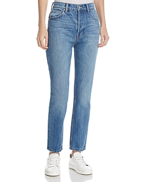 Derek Lam 10 Crosby Lou High-Rise Classic Straight Jeans in Light Wash