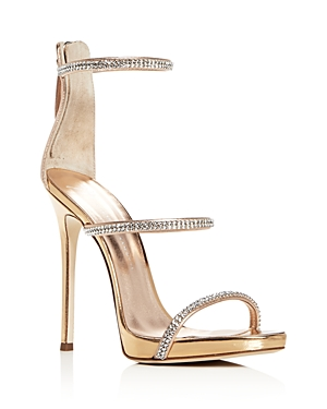 Giuseppe Zanotti Women's Coline Embellished Leather Strappy High Heel Sandals