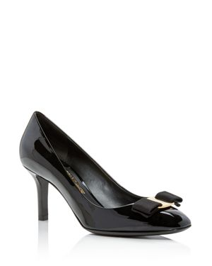 Salvatore Ferragamo Women's Bow Detail Patent Leather Pumps