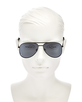 Le Specs - Women's Kingdom Polarized Aviator Sunglasses, 57mm