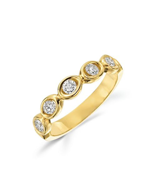 Gumuchian - 18K Yellow Gold Diamond Oasis 5 Stone Band