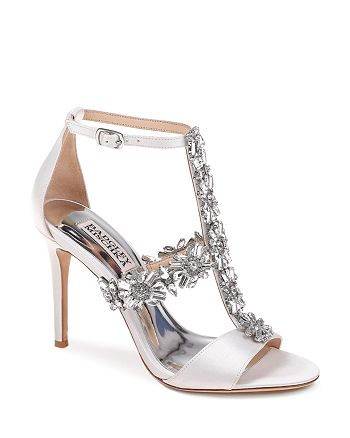 0380afaefad Badgley Mischka Women s Munroe Embellished Satin High-Heel Sandals ...