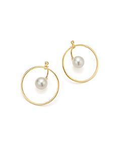MATEO - 14K Yellow Gold Floating Pearl & Hoop Ear Jackets