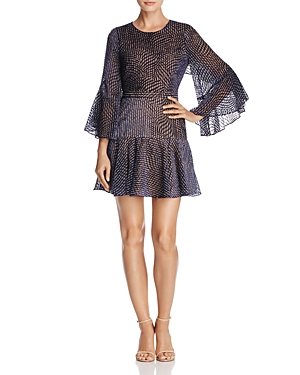 Bcbgmaxazria Baylee Velvet Burnout Dress
