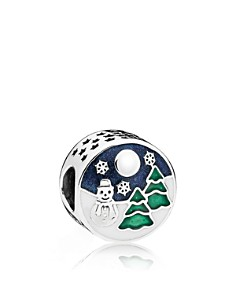 PANDORA Sterling Silver, Enamel & Enamel Snowy Wonderland Charm - Bloomingdale's_0