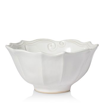 VIETRI - Incanto Stone White Baroque Medium Serving Bowl