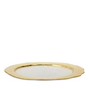 Vietri Rufolo Glass Gold Organic Service Charger Plate