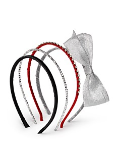 Capelli Girls' Bow & Gem Headbands, Set of 4 - Bloomingdale's_0