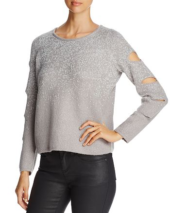 Design History - Sparkle Cutout-Sleeve Sweater