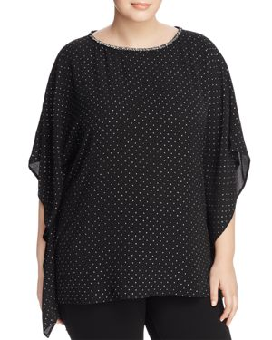 Michael Michael Kors Plus Star Bright Bell-Sleeve Top