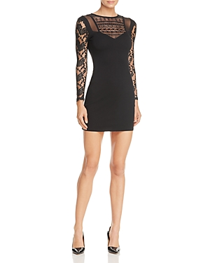 French Connection Mia Lace-Detail Mini Sheath Dress