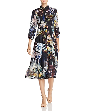 Catherine Catherine Malandrino Illeana Floral Print Shirt Dress