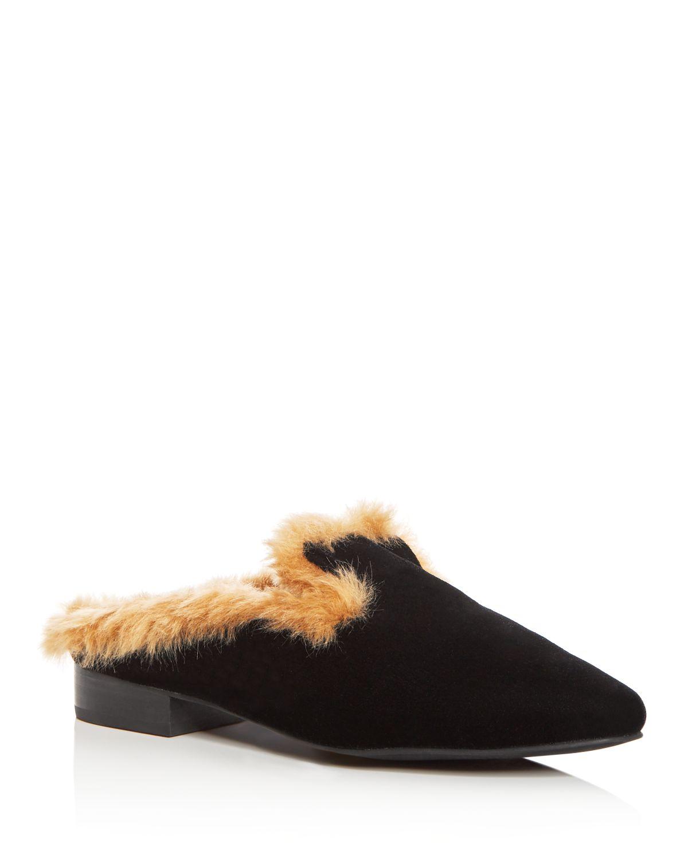 Sol Sana Women's Rocco Velvet & Faux-Fur Loafer Mules
