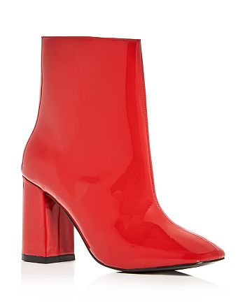 JAGGAR - Women's Patent Leather Block Heel Booties