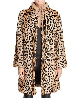 The Jetset Diaries Slade Leopard-Print Fur Coat