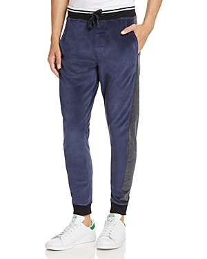 Calvin Klein Jeans Velour Color-Block Jogger Pants