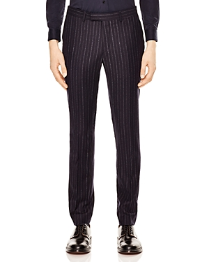 Sandro Croise Striped Slim Fit Trousers