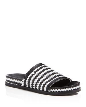 Sigerson Morrison Women's Aoven Woven Leather Pool Slide Sandals 2755517