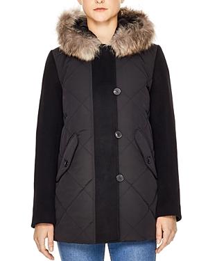Sandro Janis Fur-Trimmed Coat