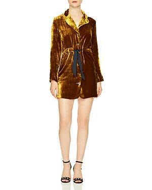 Sandro Eline Velvet Dress
