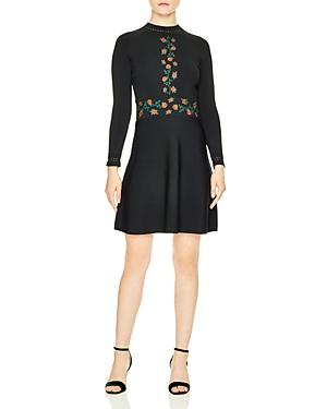 Sandro Giorgia Embroidered Dress