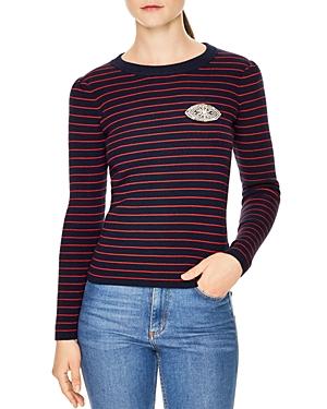 Sandro Ivory Embellished Sweater