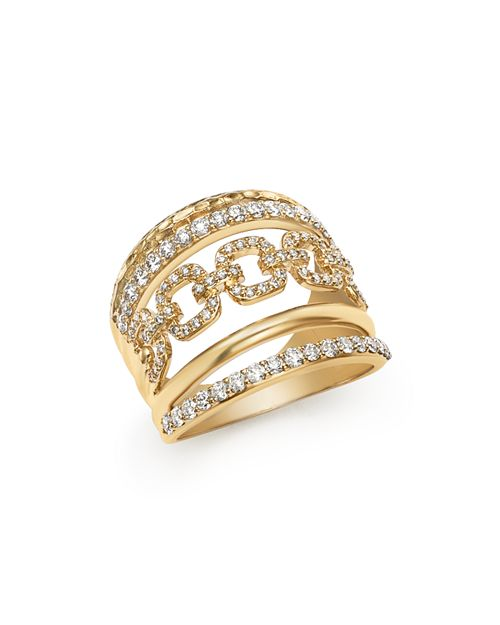 Bloomingdale's - Diamond Wide Statement Ring in 14K Yellow Gold, 1.0 ct. t.w. - 100% Exclusive