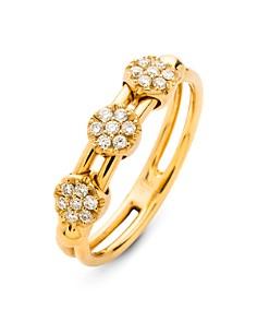 Hulchi Belluni - 18K Yellow Gold Tresore Diamond Ring