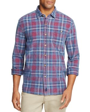Johnnie-o Salina Plaid Corduroy Long Sleeve Button-Down Shirt