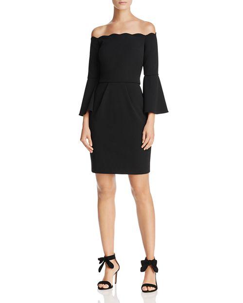 AQUA - Scuba Off-the-Shoulder Bell Sleeve Dress - 100% Exclusive