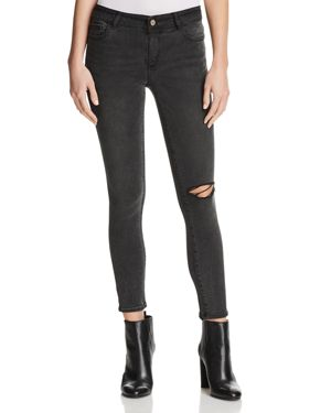 DL1961 Margaux Instasculpt Ankle Skinny Jeans in Smokey River