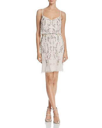 Adrianna Papell - Embellished Blouson Dress