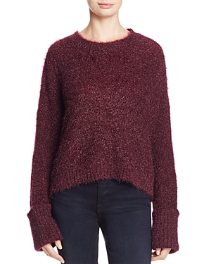 Kenneth Cole Textured Cropped Sweater