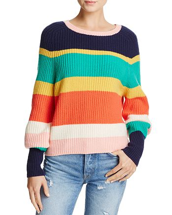 Joie - Haady Striped Chunky-Knit Wool & Cashmere Sweater