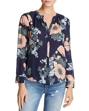 Joie - Amarant Floral Silk Top