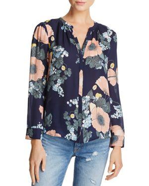 Joie Arlinda Floral-Print Silk Top