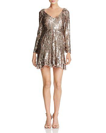 FRENCH CONNECTION - Aurelie Square-Sequin Mini Dress