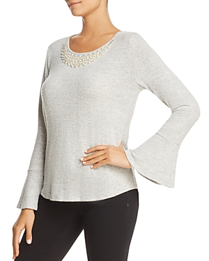 Status by Chenault Embellished Bell Sleeve Top