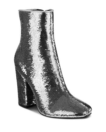 Kendall + Kylie - Women's Haedyn Sequined High Block Heel Booties