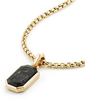 David Yurman - Men's Forged Carbon Amulet with 18K Gold