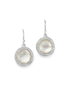 IPPOLITA - Sterling Silver Lollipop Diamond & Mother-of-Pearl Doublet Drop Earrings