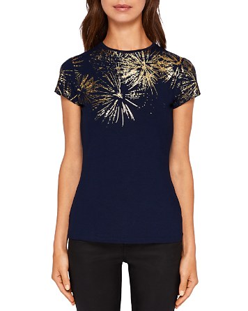 $Ted Baker Amranth Stardust Fitted Tee - Bloomingdale's