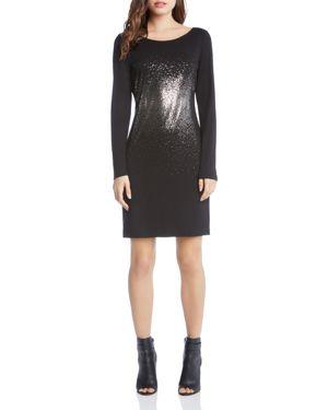 Karen Kane Metallic Ombre Print Sheath Dress 2762349