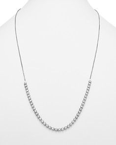 Bloomingdale's - Diamond Beaded Bolo Necklace in 14K White Gold, 3.50 ct. t.w. - 100% Exclusive