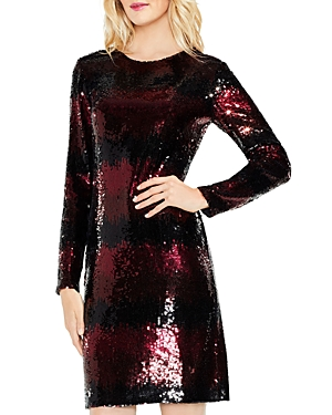 Vince Camuto Ombre Stripe Sequin Dress