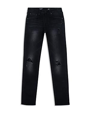 ag Adriano Goldschmied Kids Boys Distressed Black Skinny Jeans  Big Kid