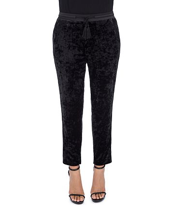 B Collection by Bobeau - Madison Ankle Crushed-Velvet Pants